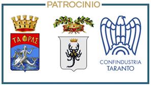Patrocinio di Comune di Taranto, Provincia di Taranto e Confindustria Taranto